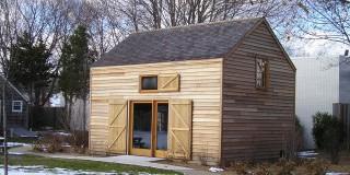 Exterior Post & Beam Barn with Sliding Barn Doors