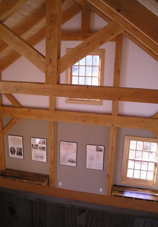Looking at King Post Truss from Balcony