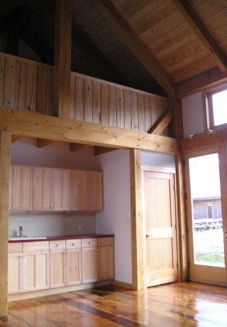 Walt Whitman Timber Frame Barn Interior