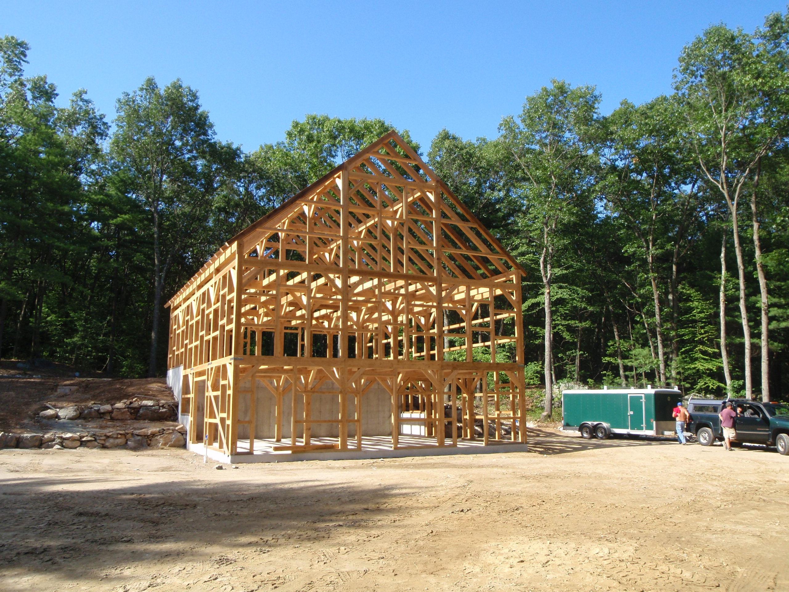 Post Amp Beam Horse Barn With Space For Hay And Equipment