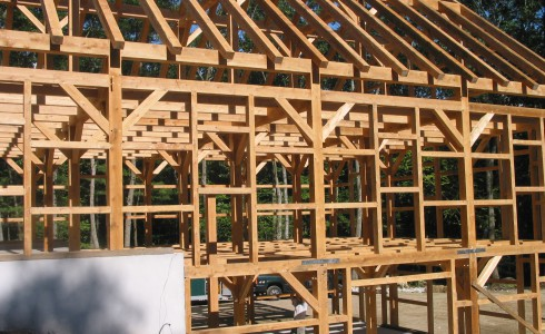 Timber Frame Barn with Rafters