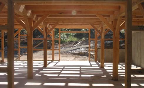 Timber Frame Horse Stalls