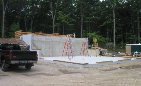 Foundation Before the Timber Frame Installation
