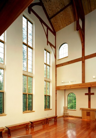 Private Timber Chapel Interior