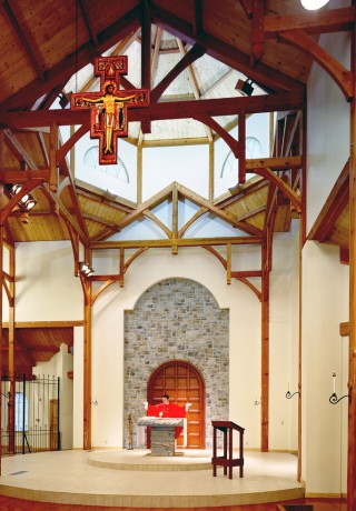 Altar with Arched Beams