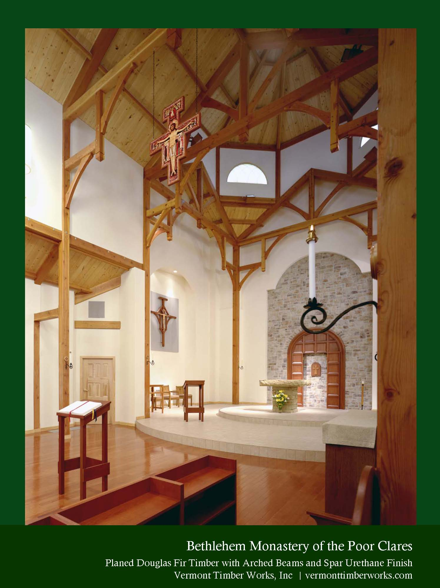Monastery Timber Frame Arched Beams Amp Curved Braces