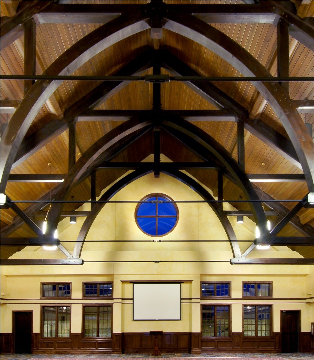 Arched Church Ceiling Exposed Beams