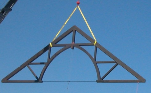 Arched Church Truss with Crane