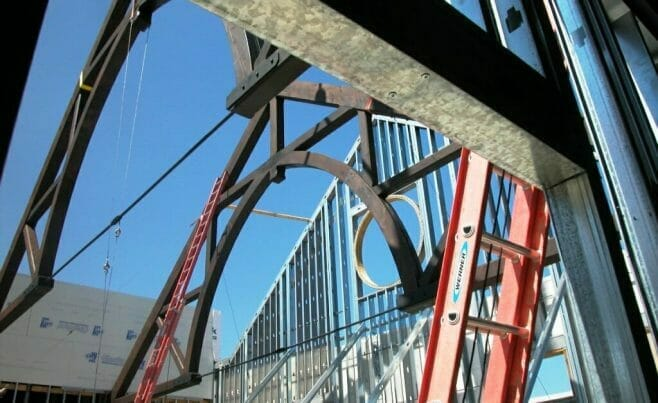 Heavy Timber Truss Church Construction