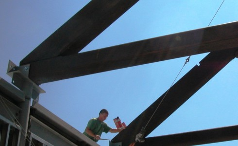 Post and Beam Truss Installation