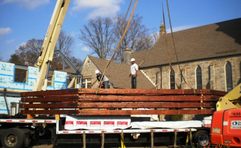 Shipping Church Timber Frame