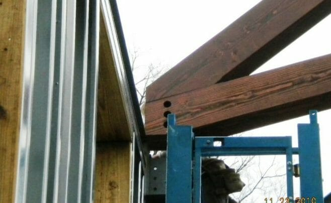 Church Timber Frame Assembly