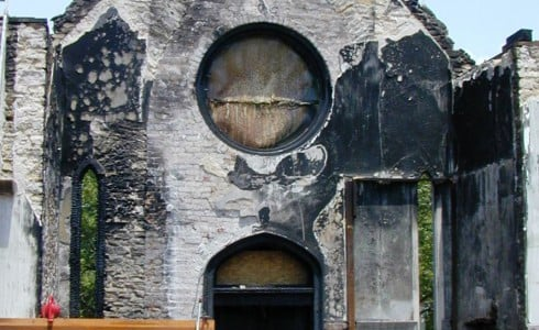 Fire Damaged Timber Frame Church