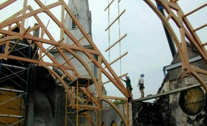 Timber Church Under Construction