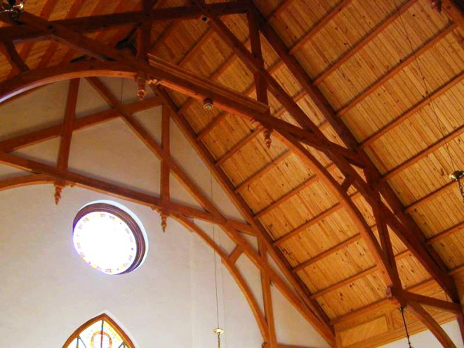Historic Church Timber Roof Truss Beautiful Arched Beams