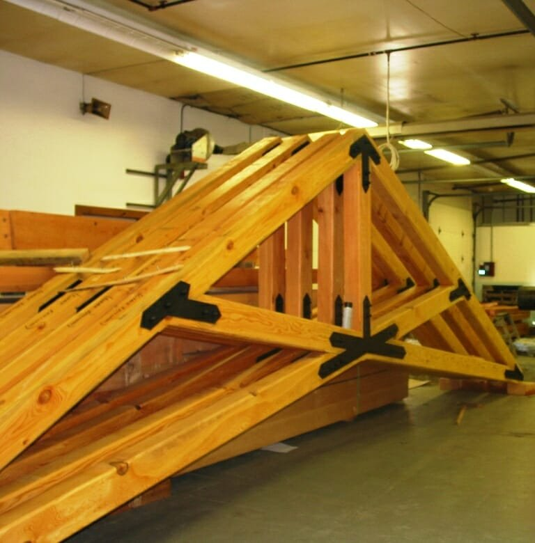 Custom scissor trusses hand crafted timber work for Scissor truss design