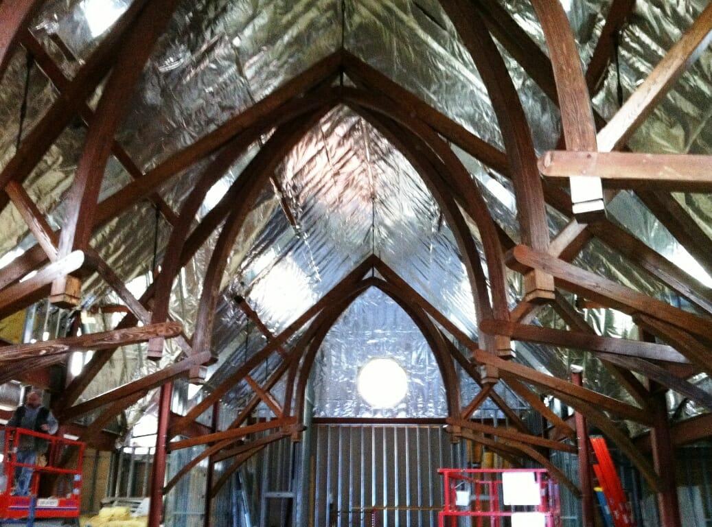 Douglass Fir Church Arched Trusses