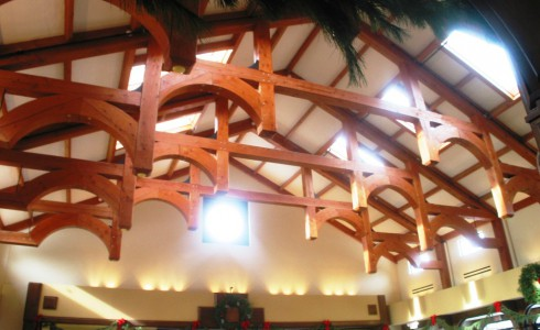 Post & Beam Church Ceiling