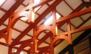 Church Arched Ceiling Beams