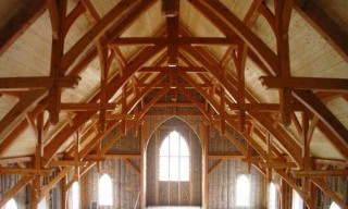 Double Hammer Beam Truss with Douglas Fir Timbers