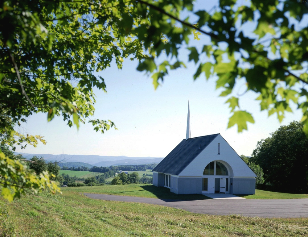 Beautiful Post and Beam Veterans Chapel Overlooking Vermont Valley