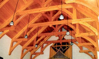 Natural Douglas Fir Hammer Beam Trusses