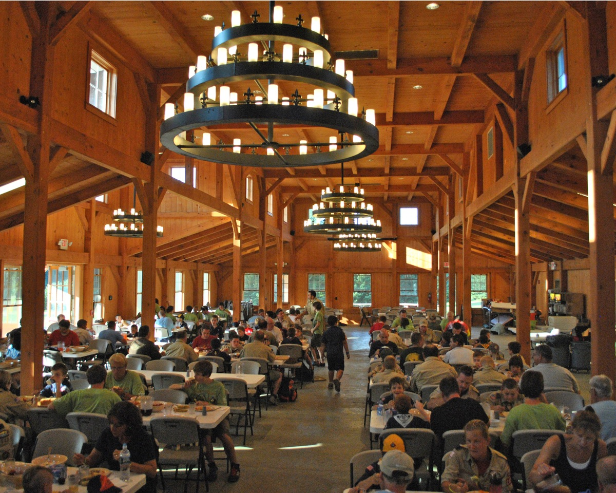 Deer lake timber frame dining hall killingworth ct for Dining hall interior