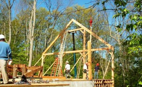 Timber Bent Installation