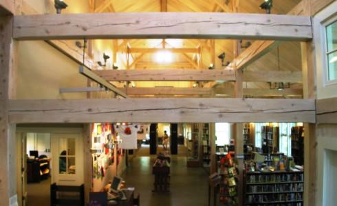 Timber Framed Library Interior