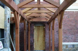Beautiful Post and Beam Walkway