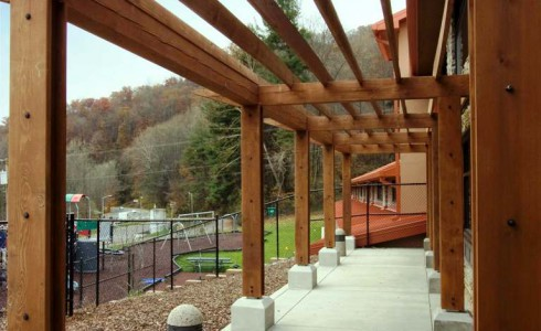 Timber Frame Pergola Posts