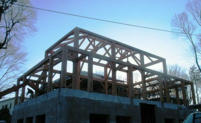 Finished Douglas Fir Timber Frame