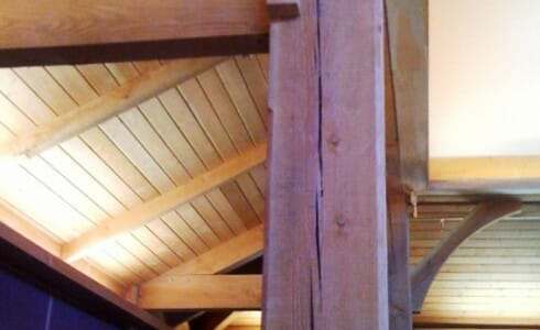 A Close-Up of the Notre Dame Timber Beam and Joinery