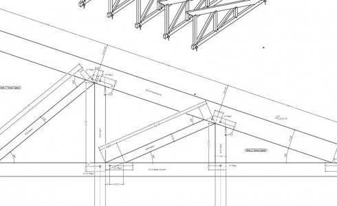 Timber Truss Drawing