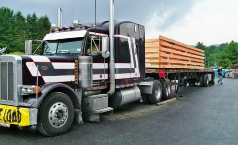 Shipping Timber Trusses