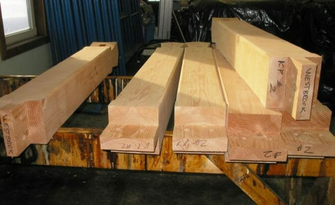 Labeled Truss Timbers