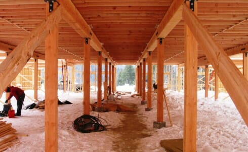 Posts and Ceiling Beams