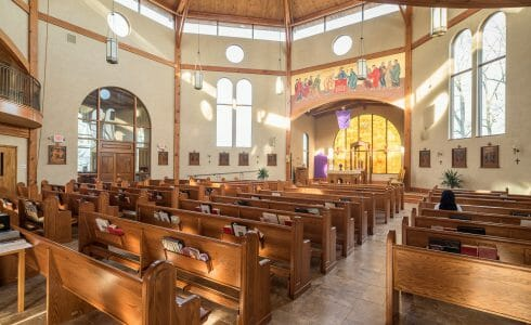 Interior of the Chapel for Holy Apostles Church