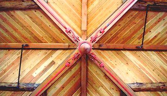 Log Ceiling Beams