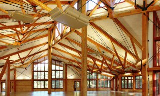Timber Frame Dining Hall Interior