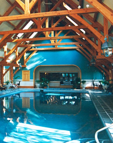 Timber Trusses Over Indoor Swimming Pool