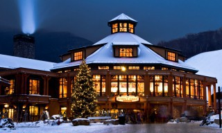Spruce Peak Post & Beam Ski Lodge