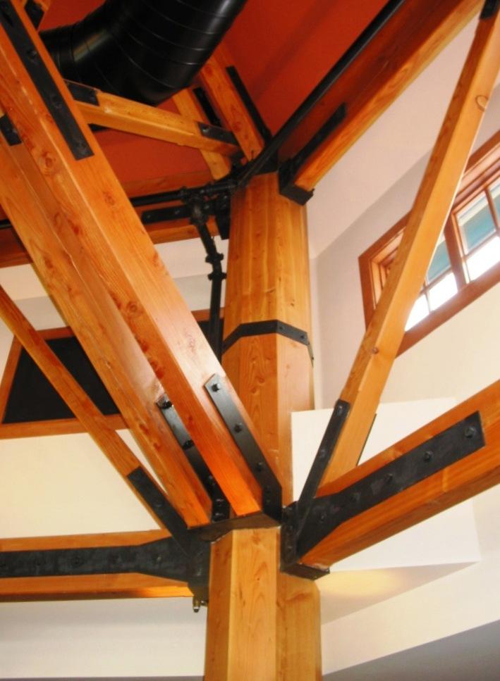 Spruce Peak Base Lodge 80 Octagon Timber Frame