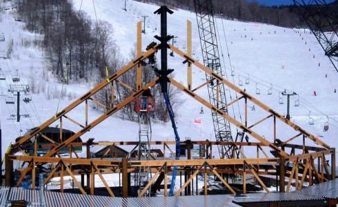Ski Lodge Truss Raising