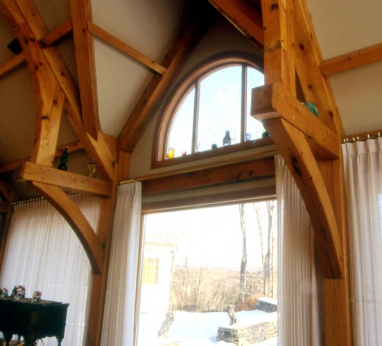 Arched Beams and Braces and Timber Framed Dormer