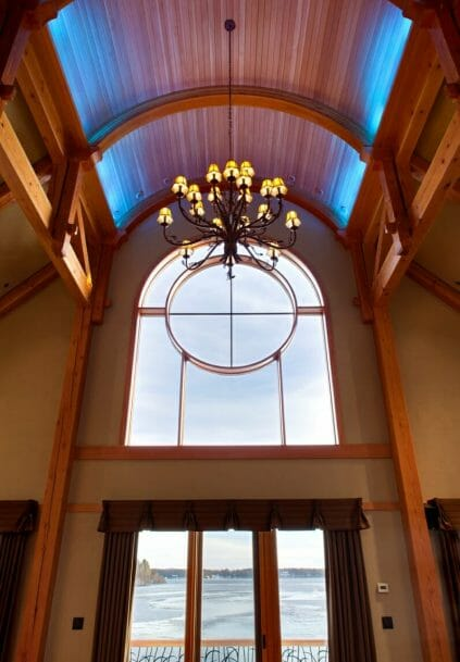 Glulam Arched Beams and Matching Window
