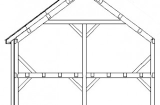 Nice The Typical Bent For A Timber Frame Home