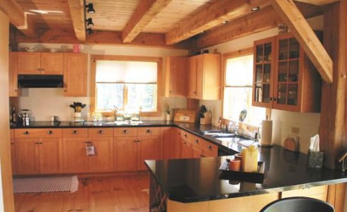Custom Post & Beam Kitchen Interior