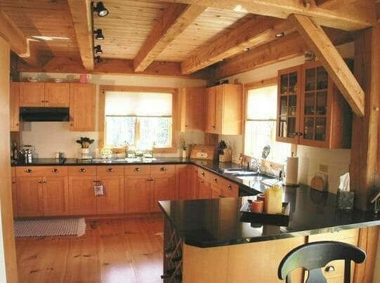 Custom Post & Beam Kitchen Interior
