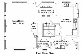 Post & Beam First Floor Plan